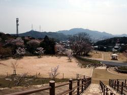 勝山城跡展望